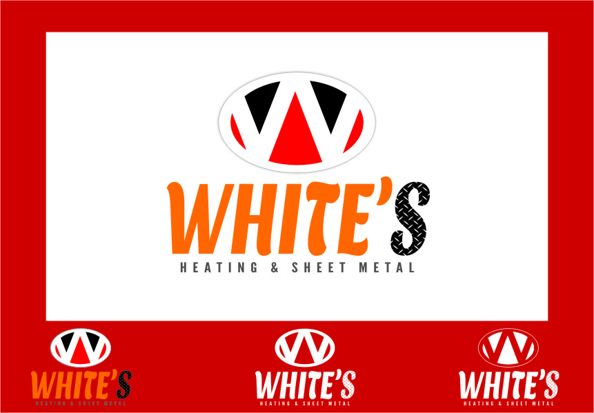 Logo Design by RasYa Muhammad Athaya - Entry No. 83 in the Logo Design Contest Imaginative Logo Design for White's Heating and Sheet Metal.