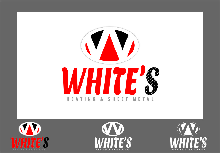 Logo Design by Ngepet_art - Entry No. 84 in the Logo Design Contest Imaginative Logo Design for White's Heating and Sheet Metal.