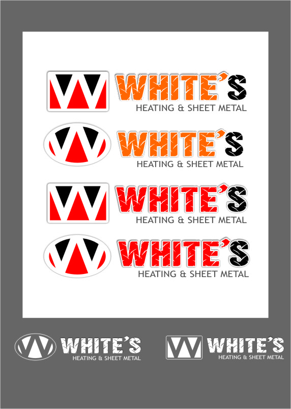 Logo Design by RoSyid Rono-Rene On Java - Entry No. 85 in the Logo Design Contest Imaginative Logo Design for White's Heating and Sheet Metal.