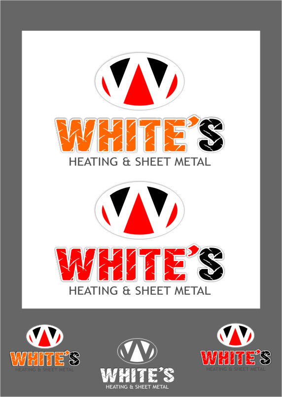 Logo Design by RasYa Muhammad Athaya - Entry No. 86 in the Logo Design Contest Imaginative Logo Design for White's Heating and Sheet Metal.