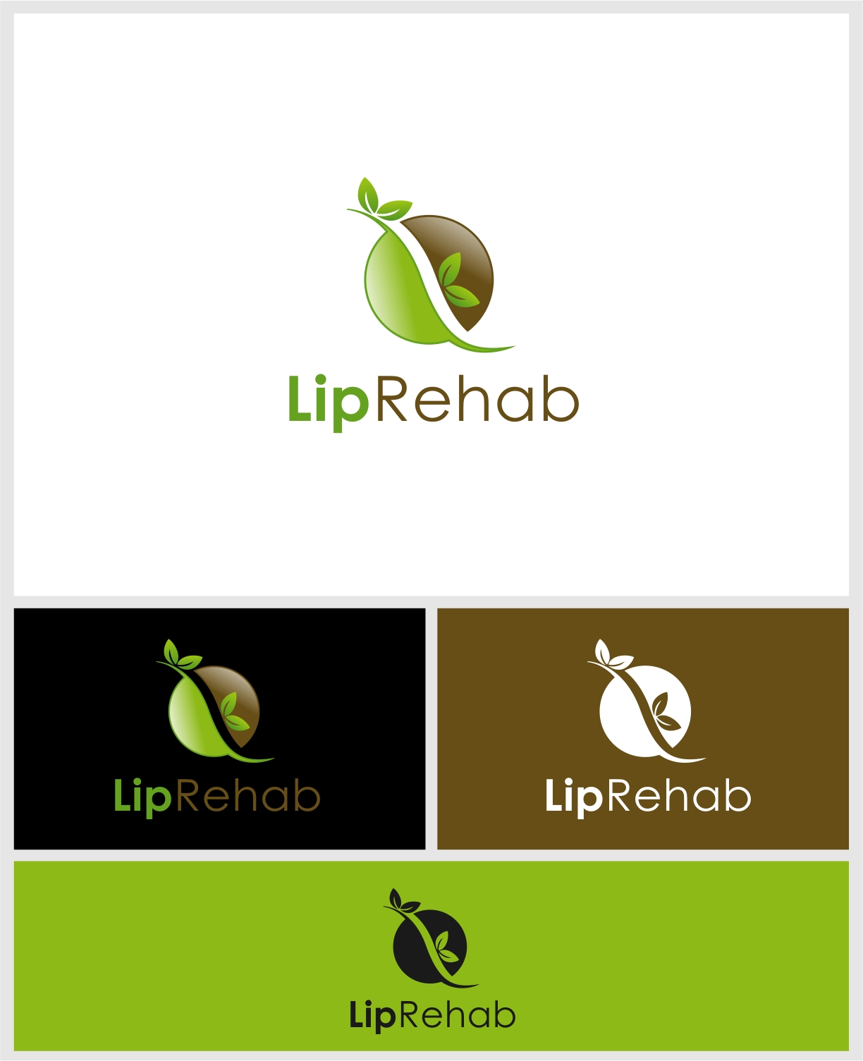 Logo Design by haidu - Entry No. 295 in the Logo Design Contest Creative Logo Design for Lip Rehab.
