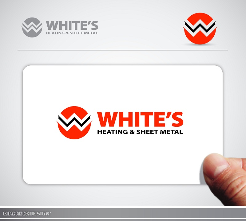 Logo Design by kowreck - Entry No. 87 in the Logo Design Contest Imaginative Logo Design for White's Heating and Sheet Metal.