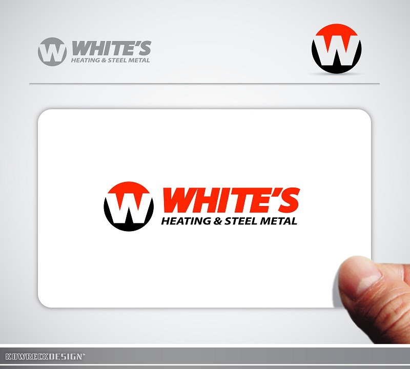 Logo Design by kowreck - Entry No. 88 in the Logo Design Contest Imaginative Logo Design for White's Heating and Sheet Metal.