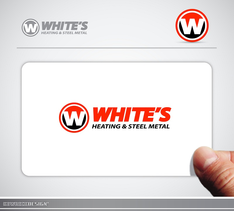 Logo Design by kowreck - Entry No. 89 in the Logo Design Contest Imaginative Logo Design for White's Heating and Sheet Metal.