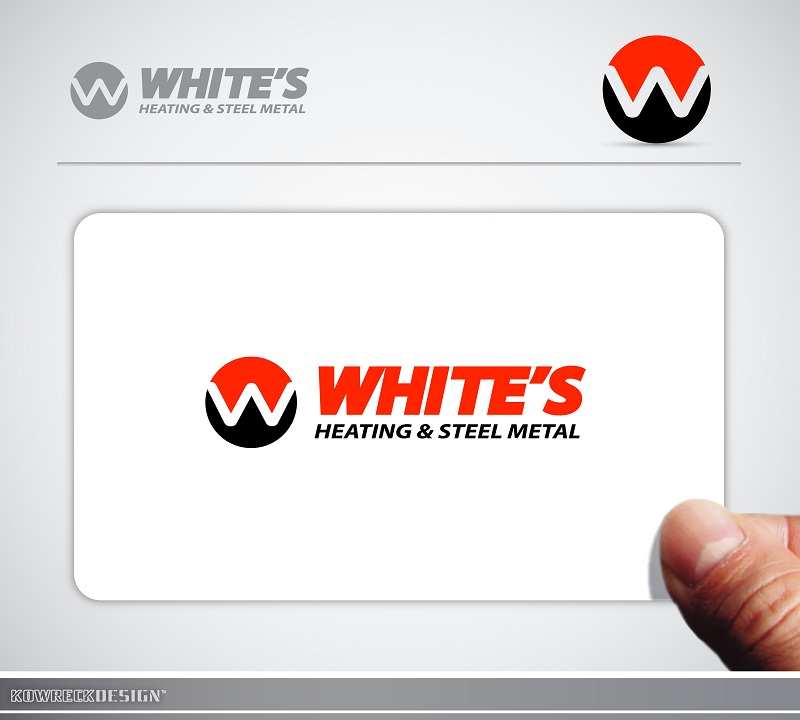Logo Design by kowreck - Entry No. 90 in the Logo Design Contest Imaginative Logo Design for White's Heating and Sheet Metal.