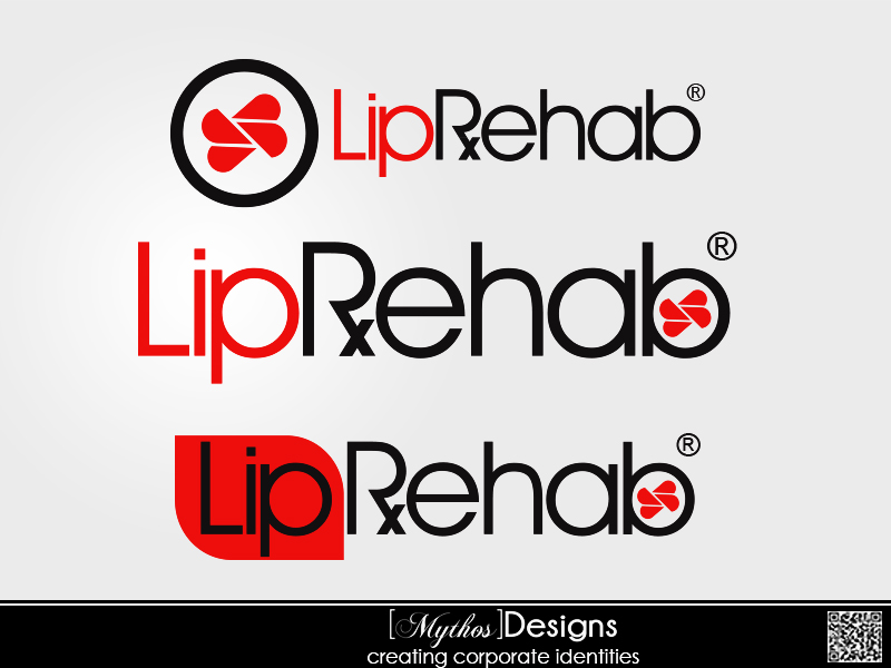 Logo Design by Mythos Designs - Entry No. 320 in the Logo Design Contest Creative Logo Design for Lip Rehab.