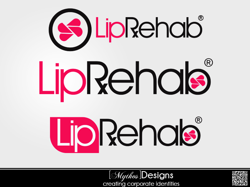 Logo Design by Mythos Designs - Entry No. 322 in the Logo Design Contest Creative Logo Design for Lip Rehab.