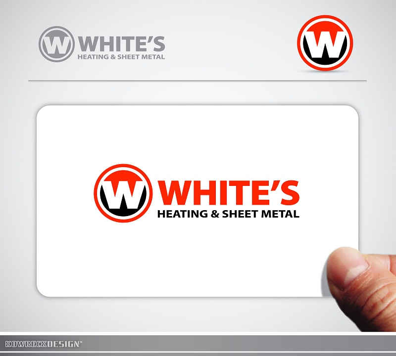 Logo Design by kowreck - Entry No. 92 in the Logo Design Contest Imaginative Logo Design for White's Heating and Sheet Metal.