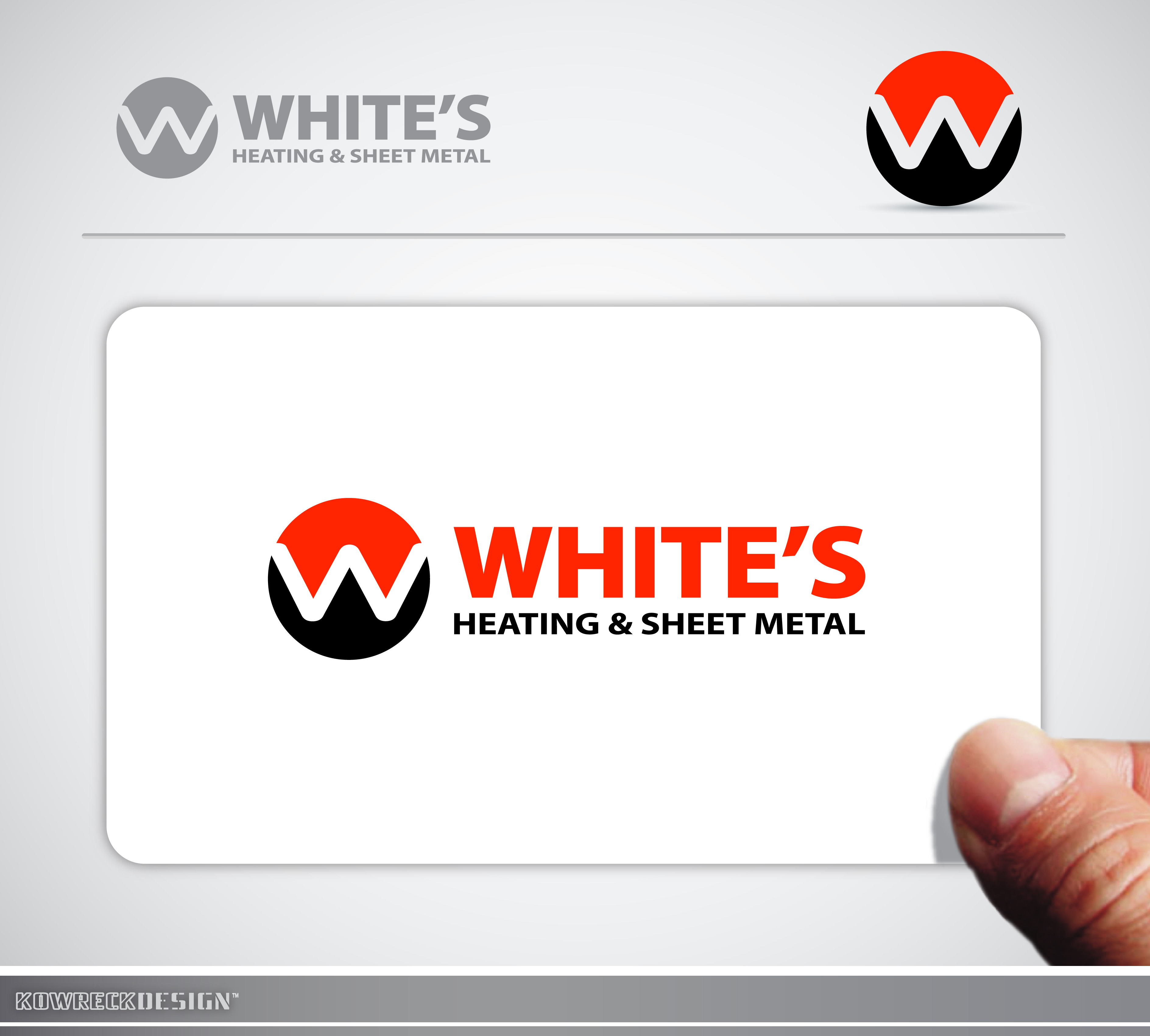 Logo Design by kowreck - Entry No. 95 in the Logo Design Contest Imaginative Logo Design for White's Heating and Sheet Metal.