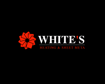 Logo Design by Parag Sohani - Entry No. 96 in the Logo Design Contest Imaginative Logo Design for White's Heating and Sheet Metal.