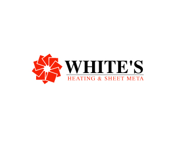 Logo Design by Parag Sohani - Entry No. 97 in the Logo Design Contest Imaginative Logo Design for White's Heating and Sheet Metal.