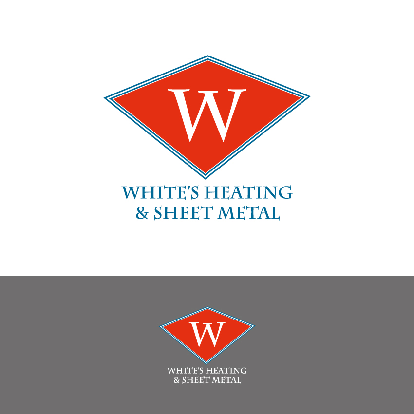 Logo Design by Kalinoe - Entry No. 99 in the Logo Design Contest Imaginative Logo Design for White's Heating and Sheet Metal.