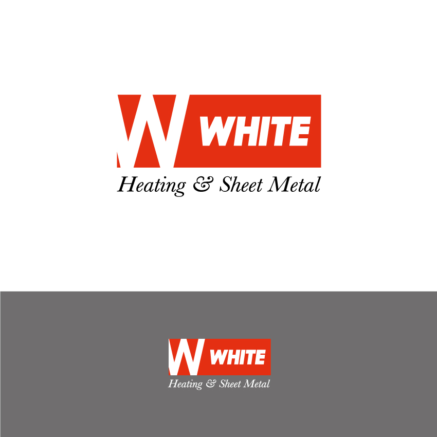 Logo Design by Kalinoe - Entry No. 100 in the Logo Design Contest Imaginative Logo Design for White's Heating and Sheet Metal.