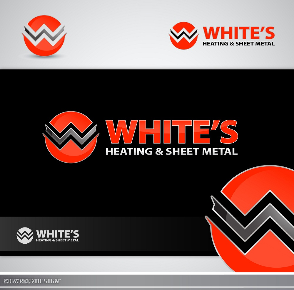 Logo Design by kowreck - Entry No. 101 in the Logo Design Contest Imaginative Logo Design for White's Heating and Sheet Metal.