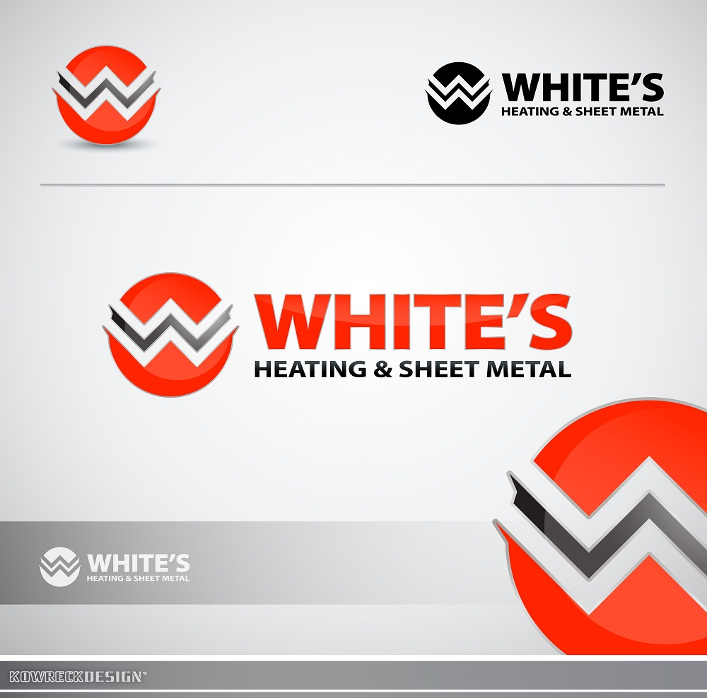 Logo Design by kowreck - Entry No. 102 in the Logo Design Contest Imaginative Logo Design for White's Heating and Sheet Metal.