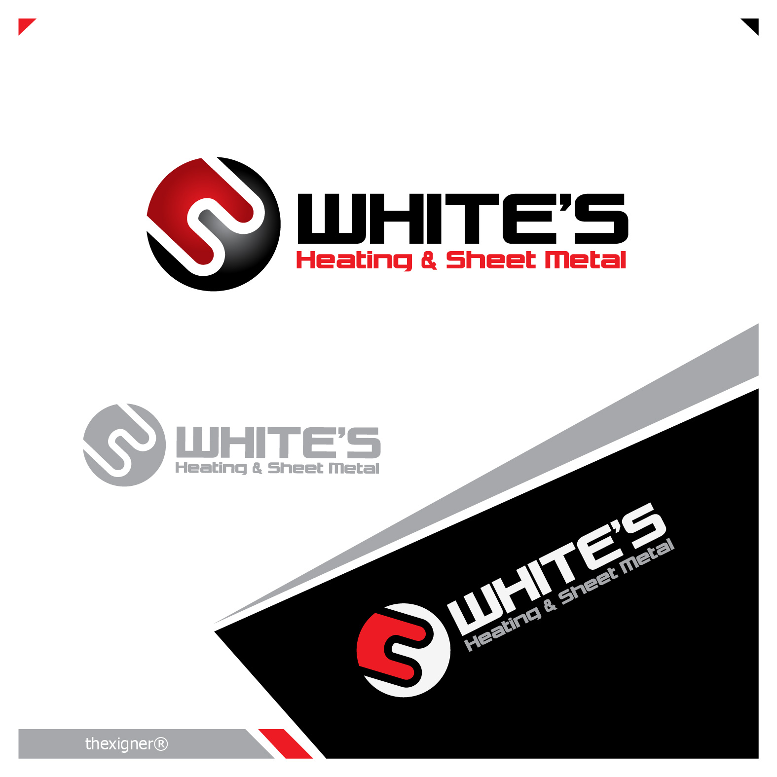 Logo Design by lagalag - Entry No. 104 in the Logo Design Contest Imaginative Logo Design for White's Heating and Sheet Metal.