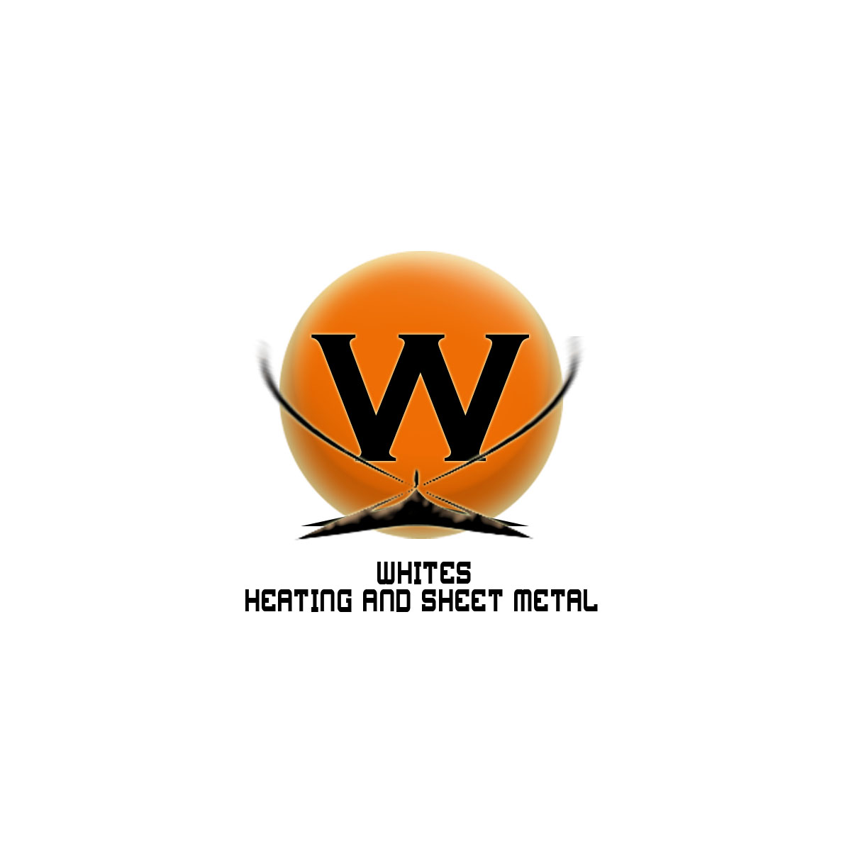 Logo Design by Moag - Entry No. 105 in the Logo Design Contest Imaginative Logo Design for White's Heating and Sheet Metal.