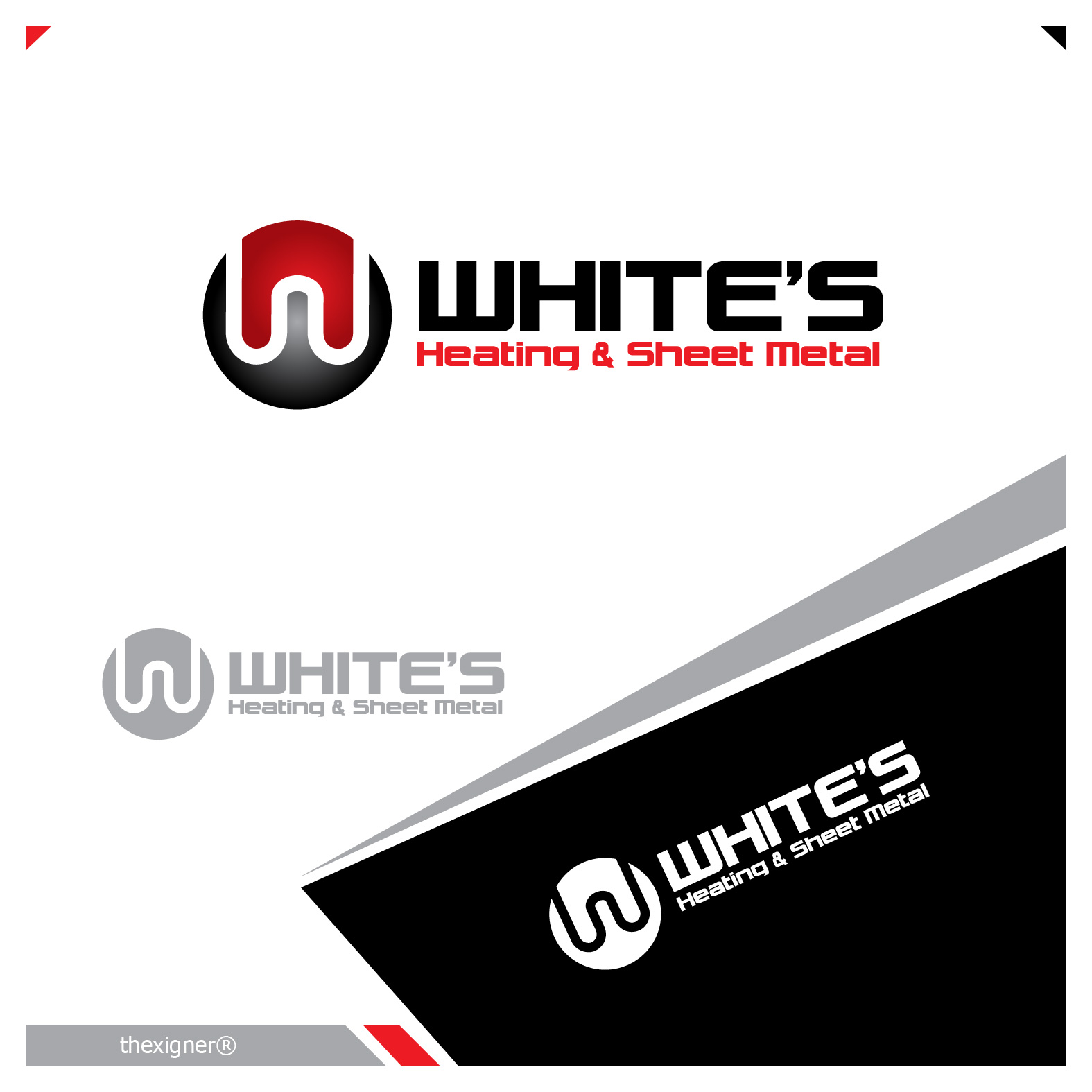 Logo Design by lagalag - Entry No. 107 in the Logo Design Contest Imaginative Logo Design for White's Heating and Sheet Metal.