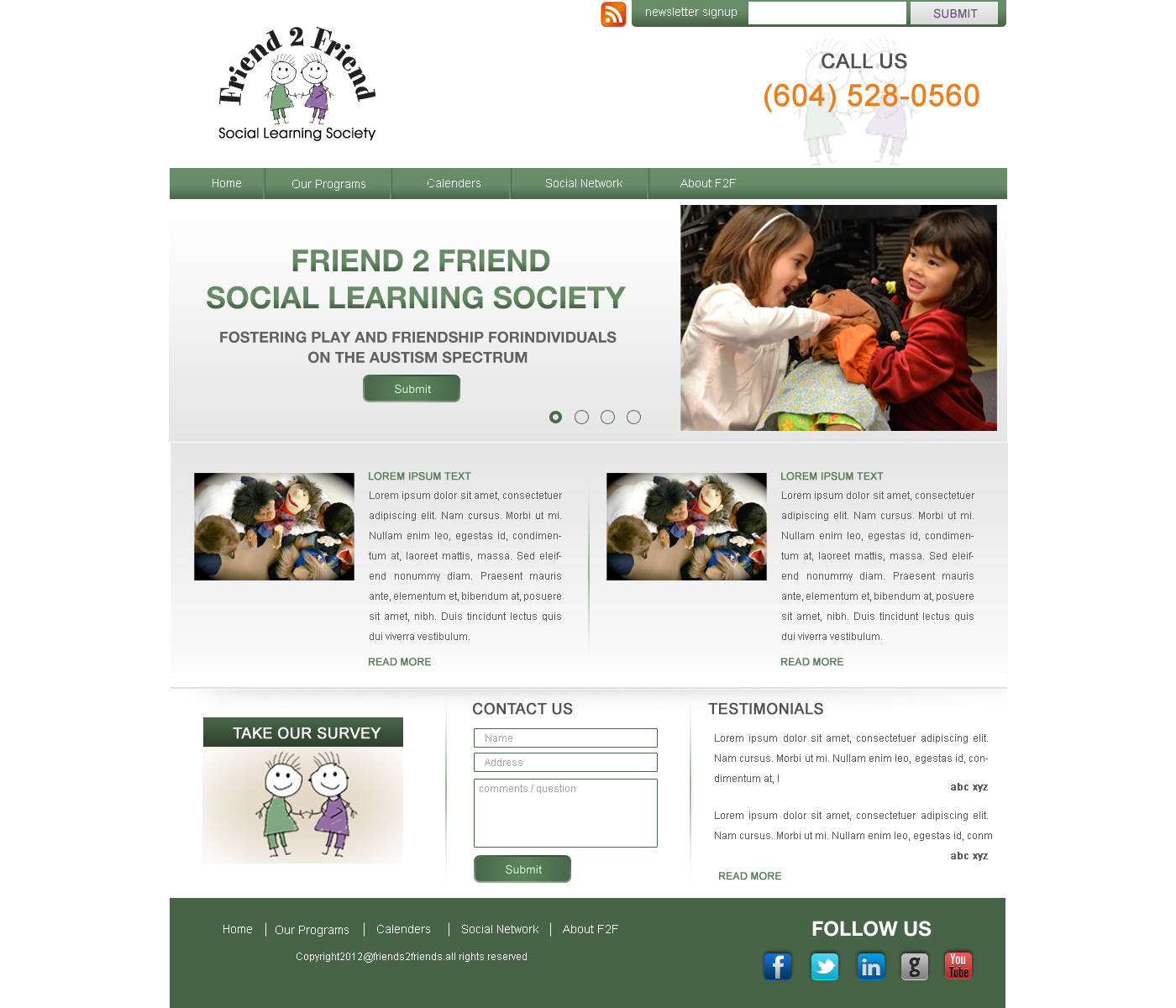 Web Page Design by Private User - Entry No. 11 in the Web Page Design Contest Web Page Design Needed for Exciting New Company Friend 2 Friend Social Learning Society.