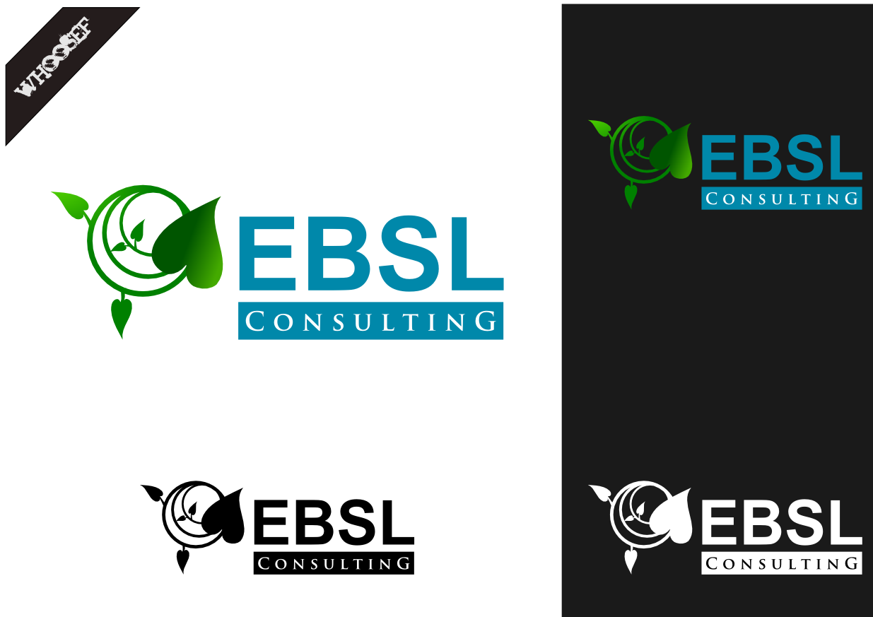 Logo Design by whoosef - Entry No. 108 in the Logo Design Contest EBSL Consulting Logo Design.