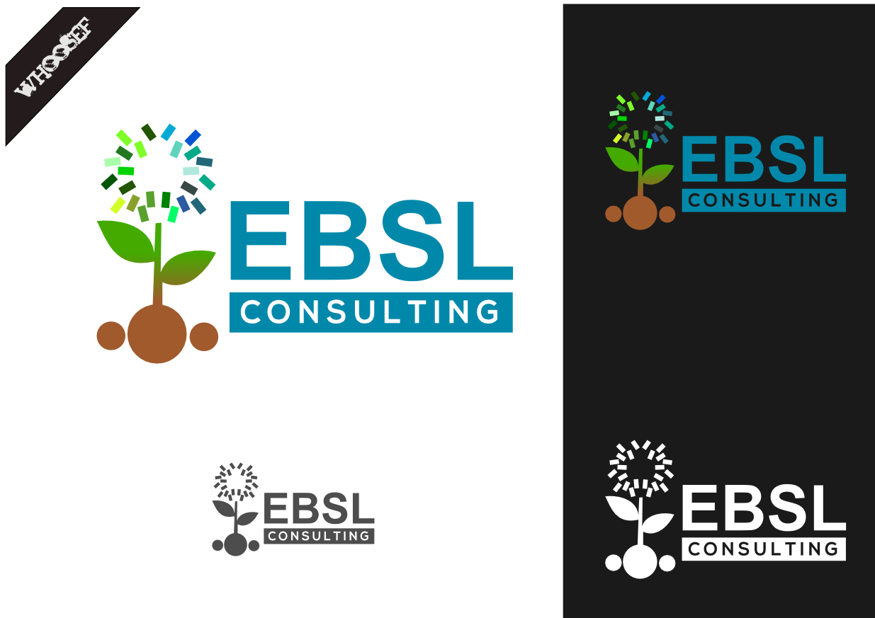Logo Design by whoosef - Entry No. 112 in the Logo Design Contest EBSL Consulting Logo Design.