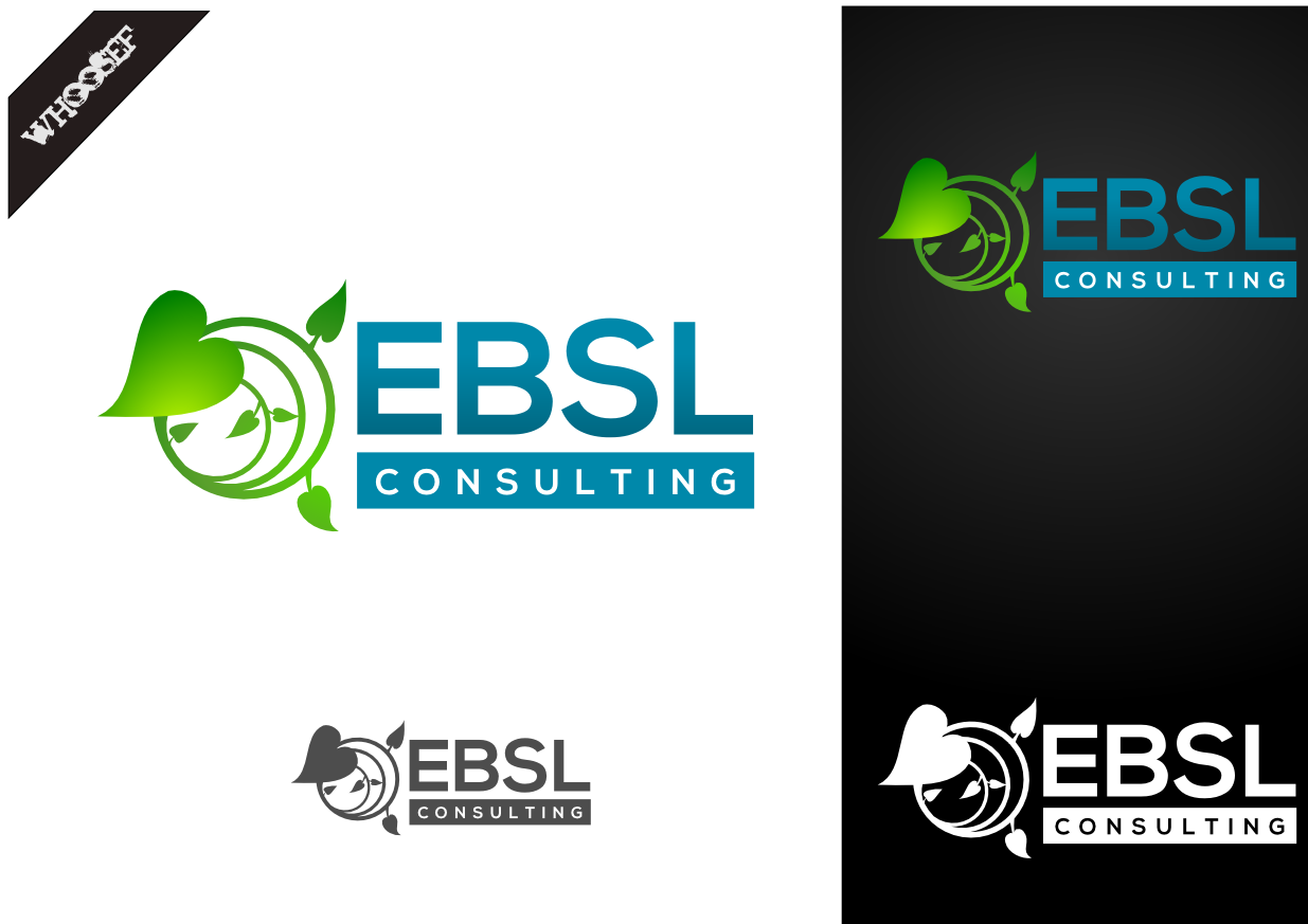 Logo Design by whoosef - Entry No. 113 in the Logo Design Contest EBSL Consulting Logo Design.