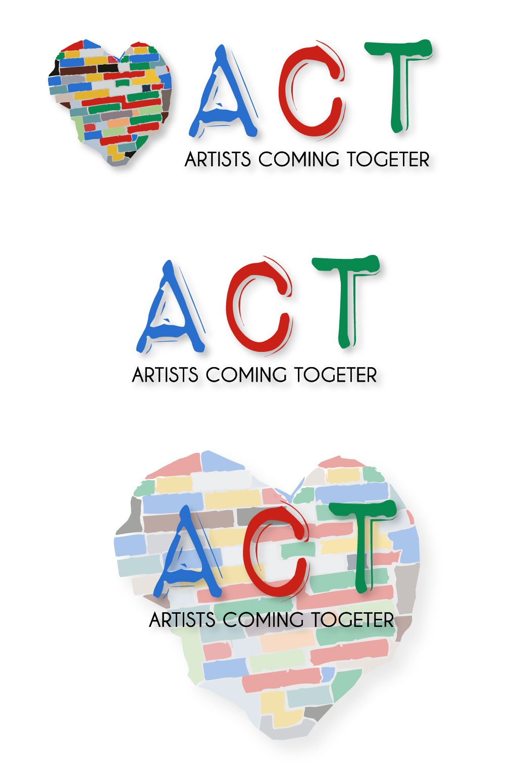 Logo Design by Vasil Boyadzhiev - Entry No. 50 in the Logo Design Contest Creative Logo Design for A.C.T. Artists Coming Together.