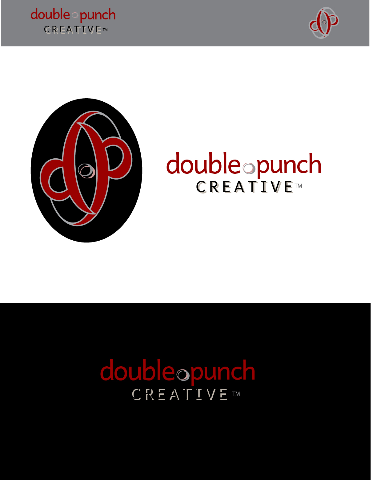 Logo Design by Nancy Grant - Entry No. 21 in the Logo Design Contest Unique Logo Design Wanted for Double Punch Creative.