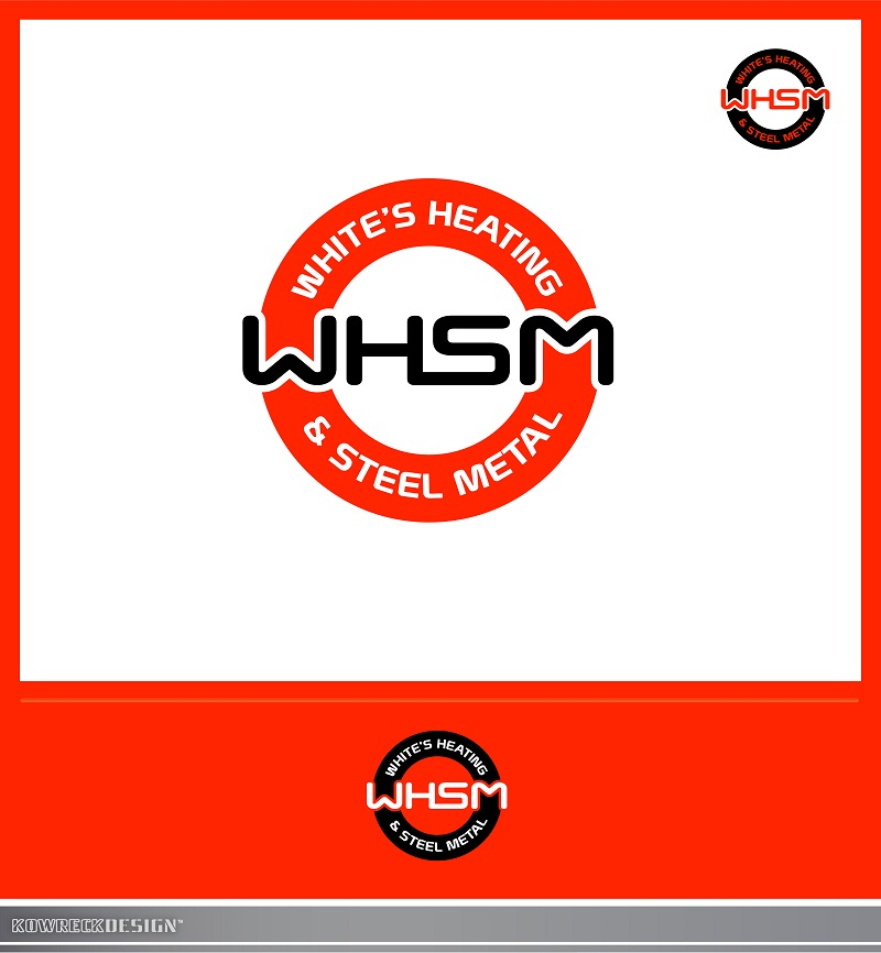Logo Design by kowreck - Entry No. 109 in the Logo Design Contest Imaginative Logo Design for White's Heating and Sheet Metal.