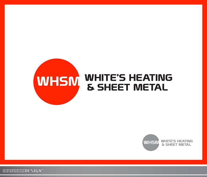 Logo Design by kowreck - Entry No. 111 in the Logo Design Contest Imaginative Logo Design for White's Heating and Sheet Metal.