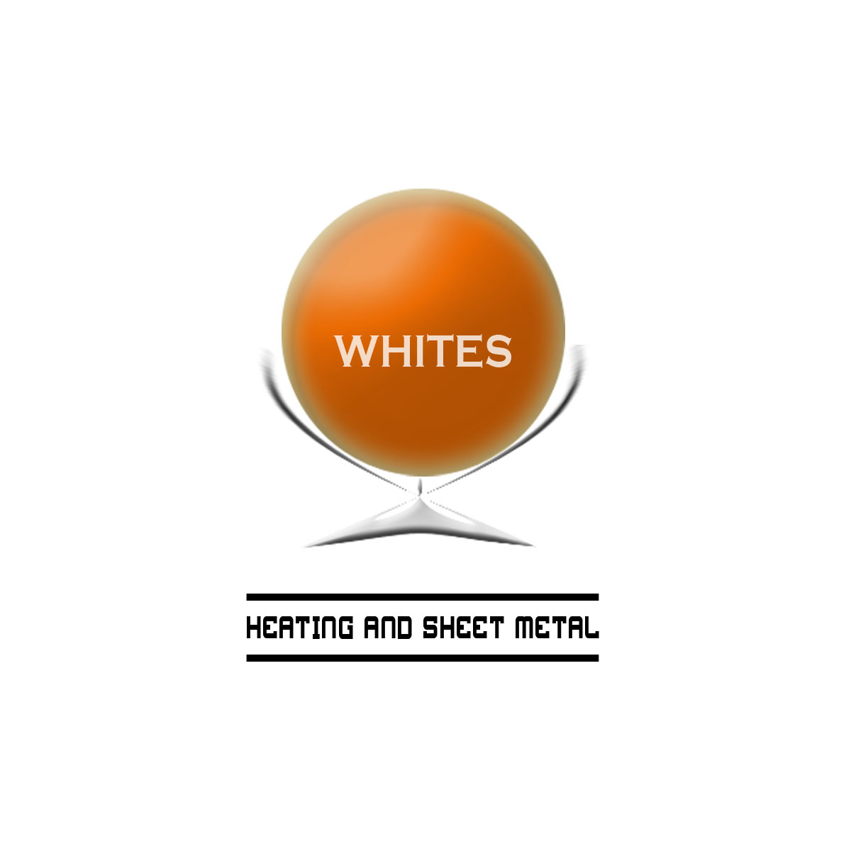 Logo Design by Moag - Entry No. 112 in the Logo Design Contest Imaginative Logo Design for White's Heating and Sheet Metal.
