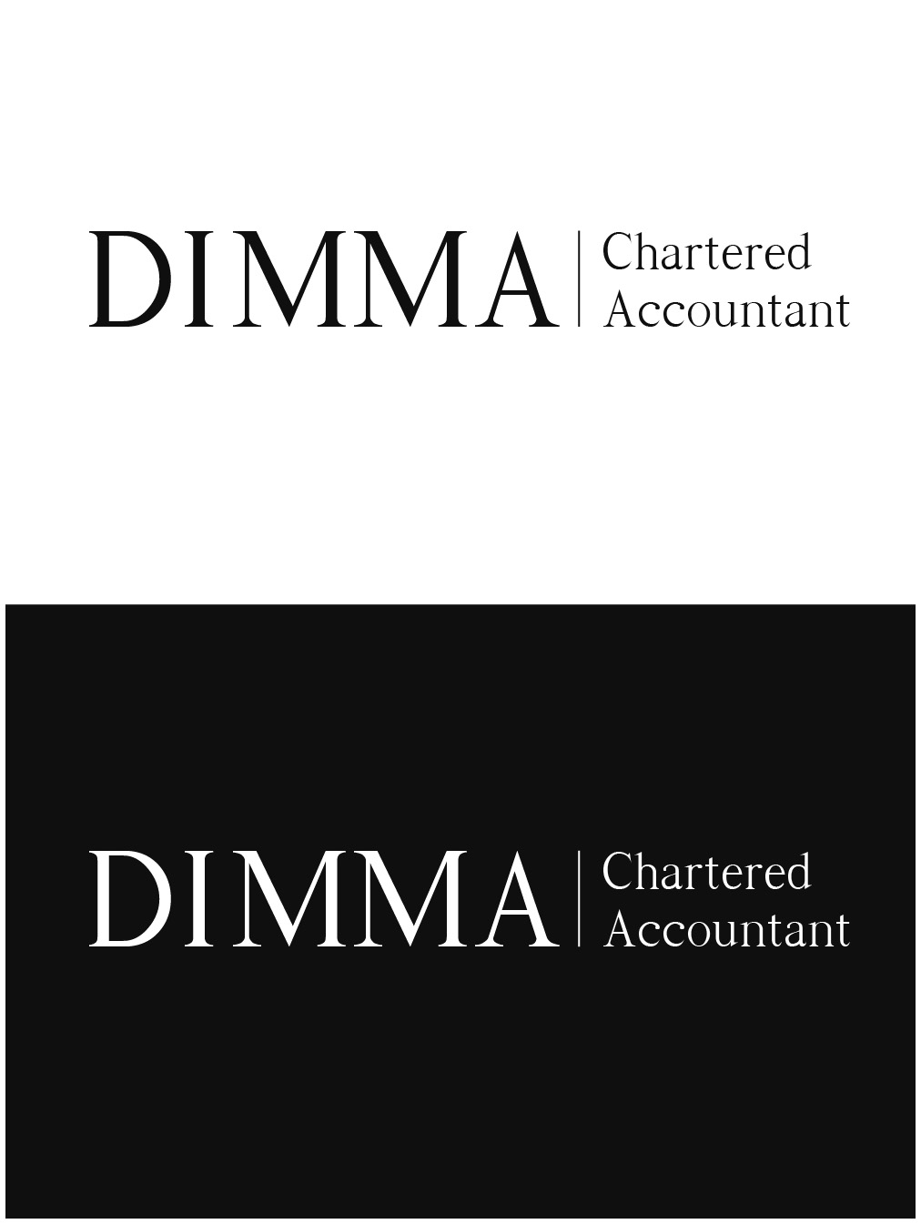 Logo Design by gkonta - Entry No. 32 in the Logo Design Contest Creative Logo Design for Dimma Chartered Accountant.