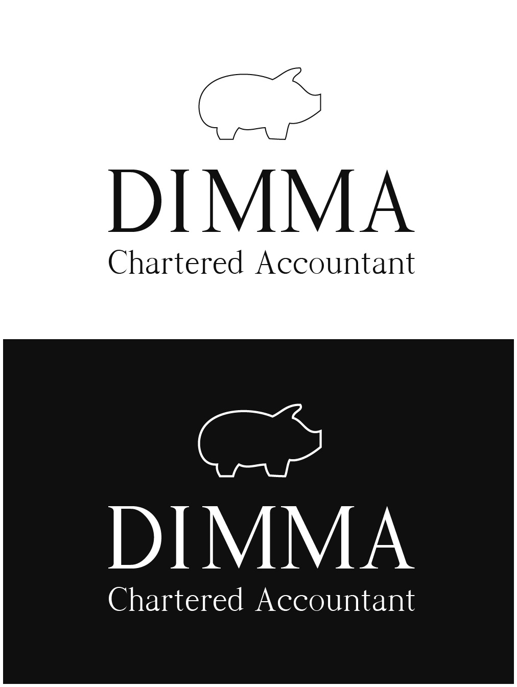 Logo Design by gkonta - Entry No. 33 in the Logo Design Contest Creative Logo Design for Dimma Chartered Accountant.