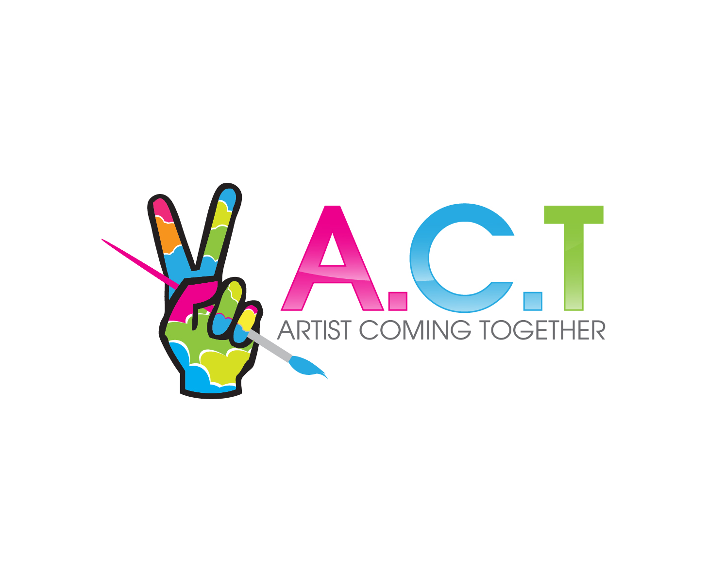 Logo Design by gabbyadingail - Entry No. 64 in the Logo Design Contest Creative Logo Design for A.C.T. Artists Coming Together.