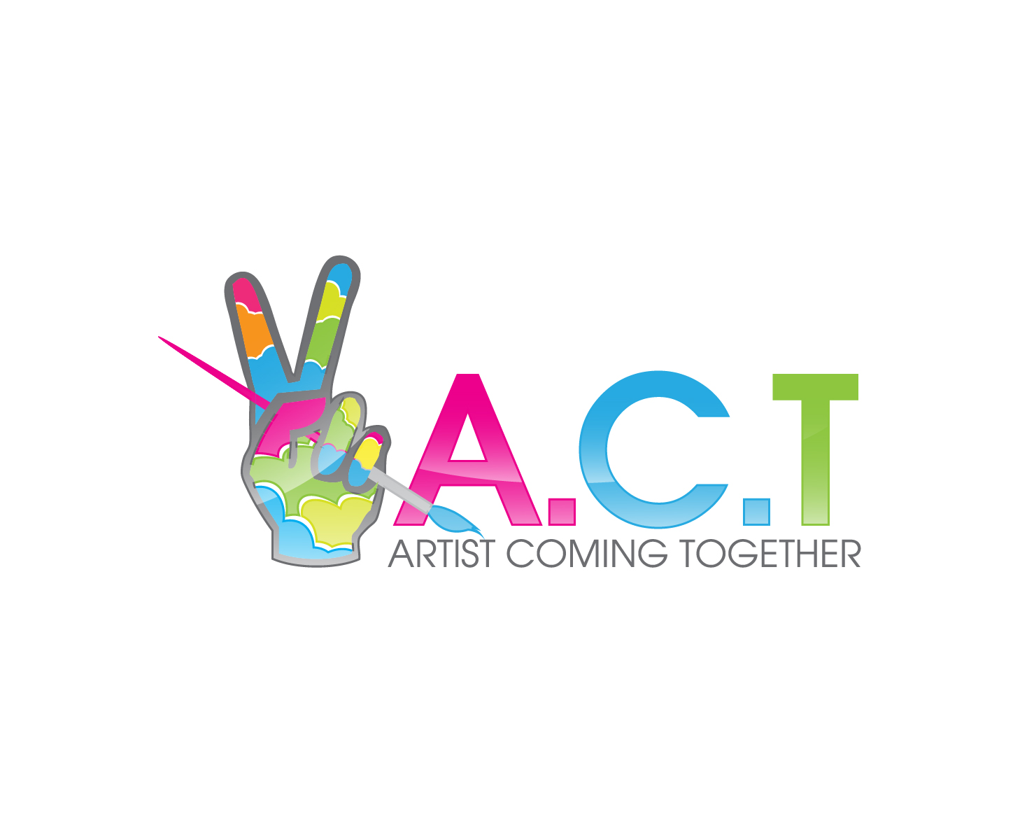 Logo Design by gabbyadingail - Entry No. 65 in the Logo Design Contest Creative Logo Design for A.C.T. Artists Coming Together.