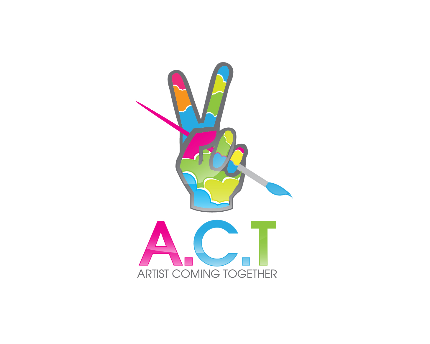 Logo Design by gabbyadingail - Entry No. 66 in the Logo Design Contest Creative Logo Design for A.C.T. Artists Coming Together.