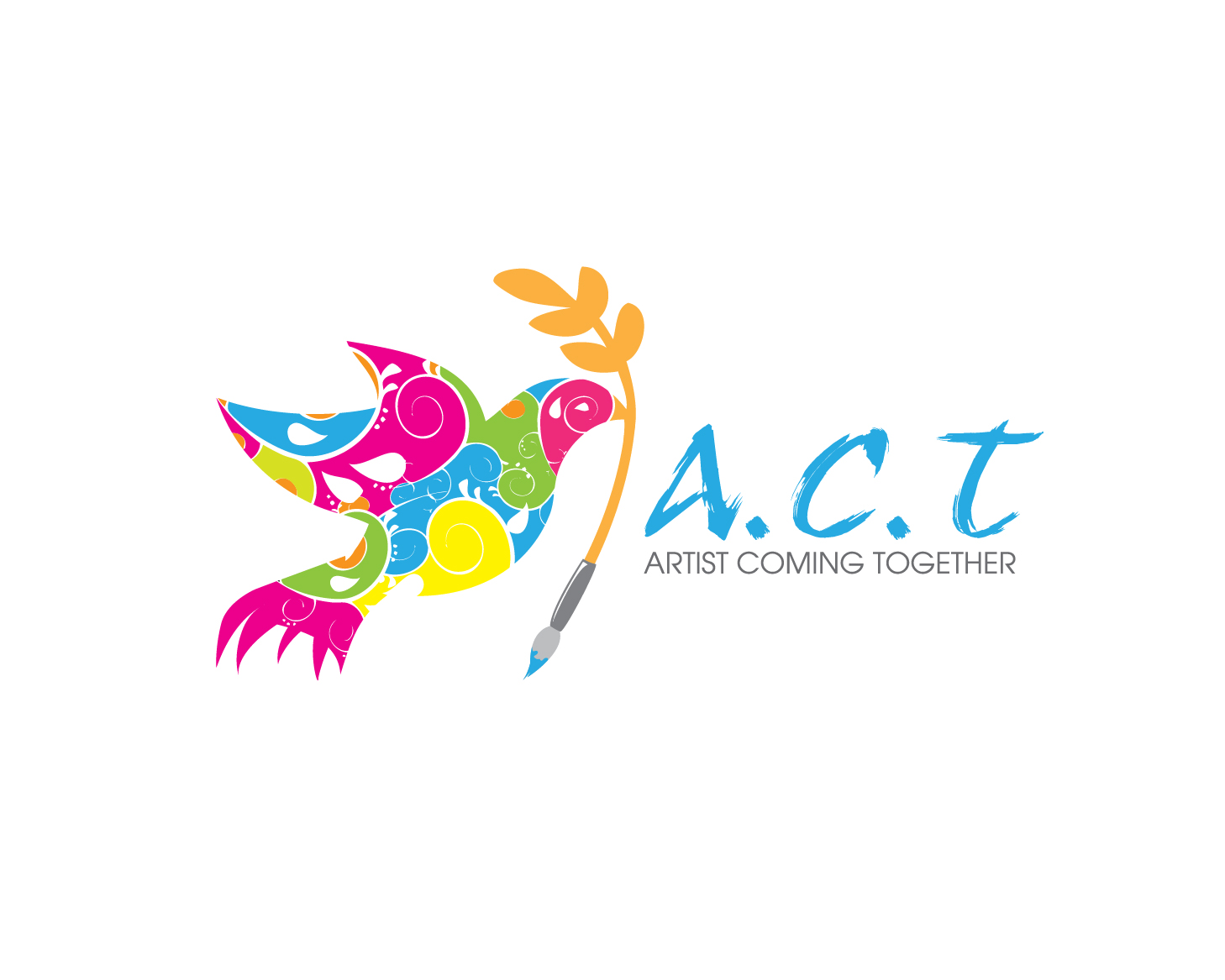 Logo Design by gabbyadingail - Entry No. 68 in the Logo Design Contest Creative Logo Design for A.C.T. Artists Coming Together.