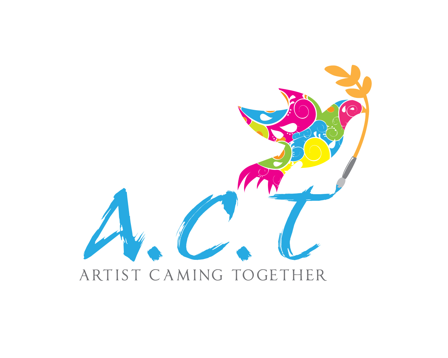 Logo Design by gabbyadingail - Entry No. 70 in the Logo Design Contest Creative Logo Design for A.C.T. Artists Coming Together.