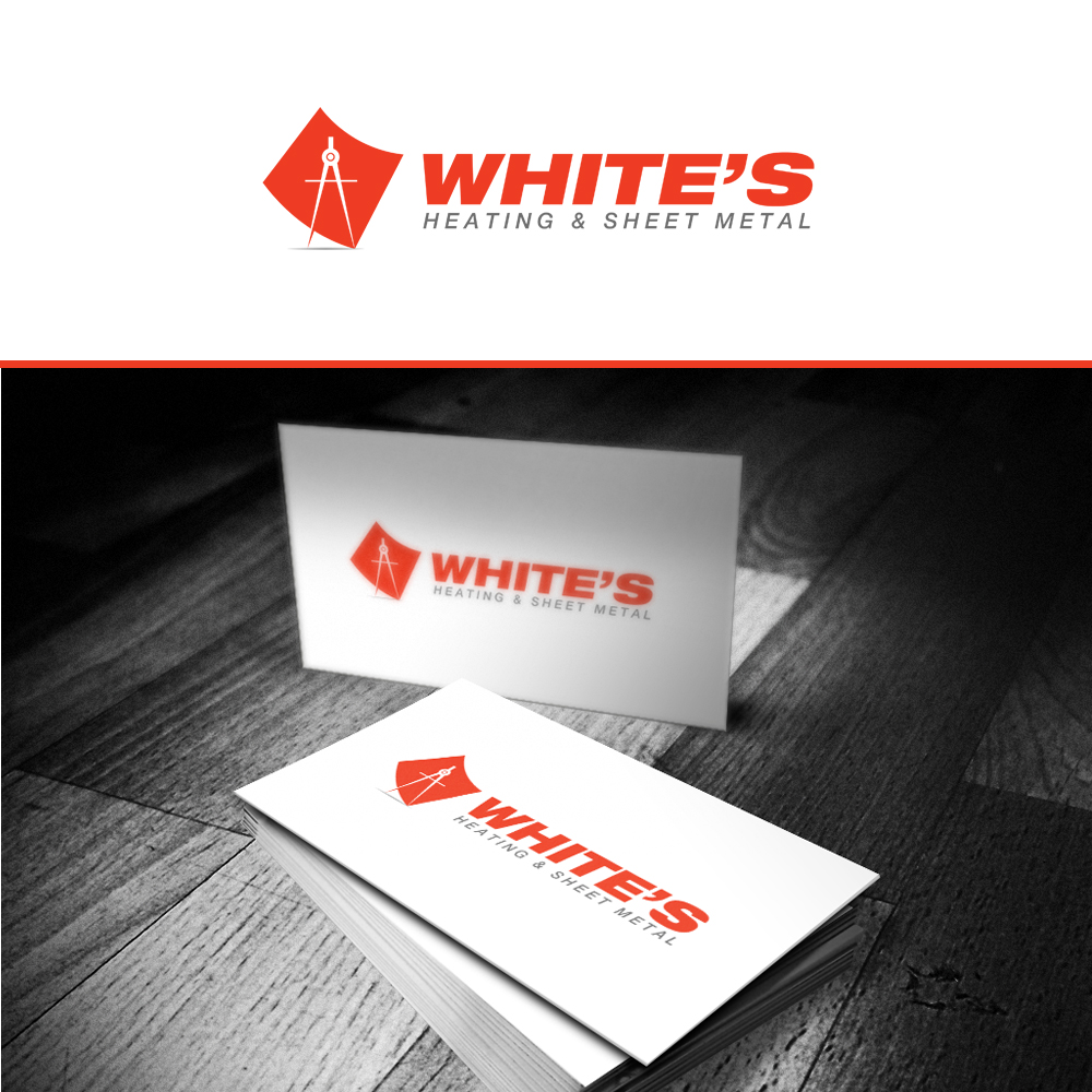 Logo Design by omARTist - Entry No. 115 in the Logo Design Contest Imaginative Logo Design for White's Heating and Sheet Metal.