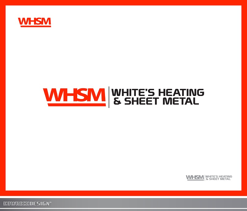 Logo Design by kowreck - Entry No. 116 in the Logo Design Contest Imaginative Logo Design for White's Heating and Sheet Metal.