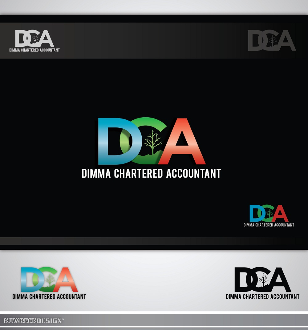 Logo Design by kowreck - Entry No. 51 in the Logo Design Contest Creative Logo Design for Dimma Chartered Accountant.