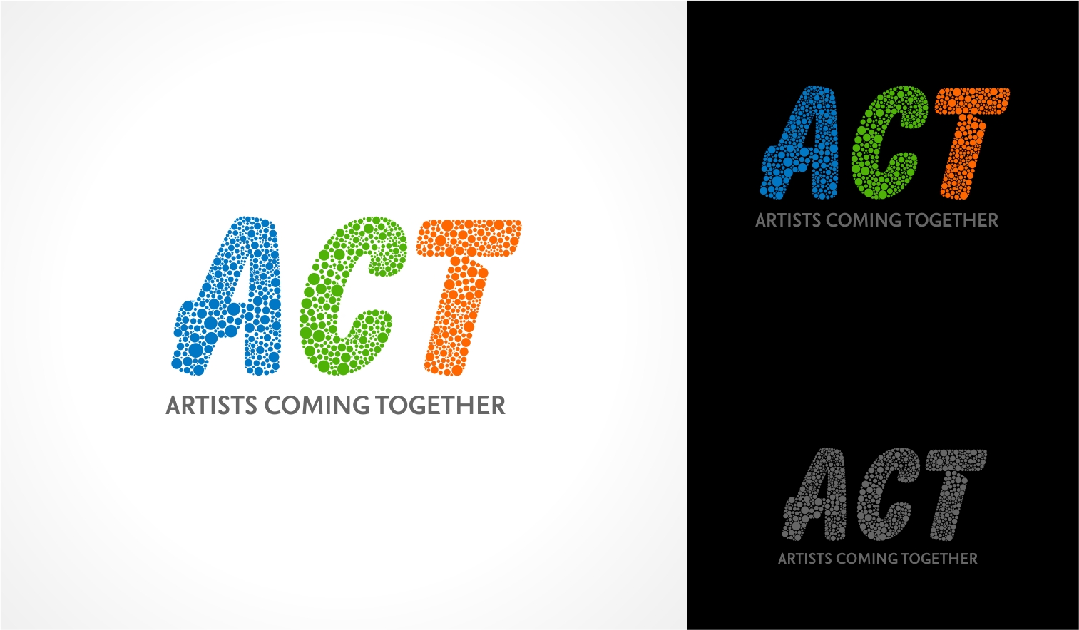 Logo Design by haidu - Entry No. 79 in the Logo Design Contest Creative Logo Design for A.C.T. Artists Coming Together.