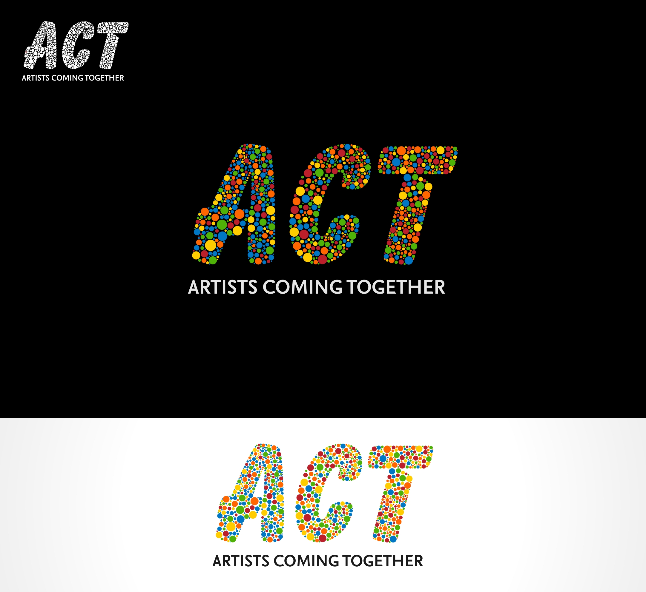 Logo Design by haidu - Entry No. 80 in the Logo Design Contest Creative Logo Design for A.C.T. Artists Coming Together.