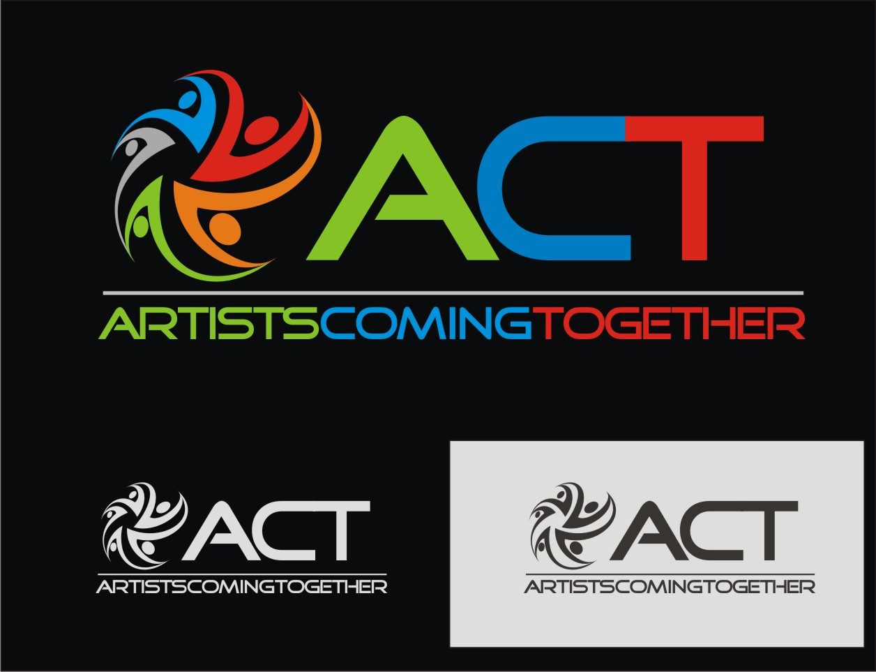 Logo Design by Reivan Ferdinan - Entry No. 88 in the Logo Design Contest Creative Logo Design for A.C.T. Artists Coming Together.