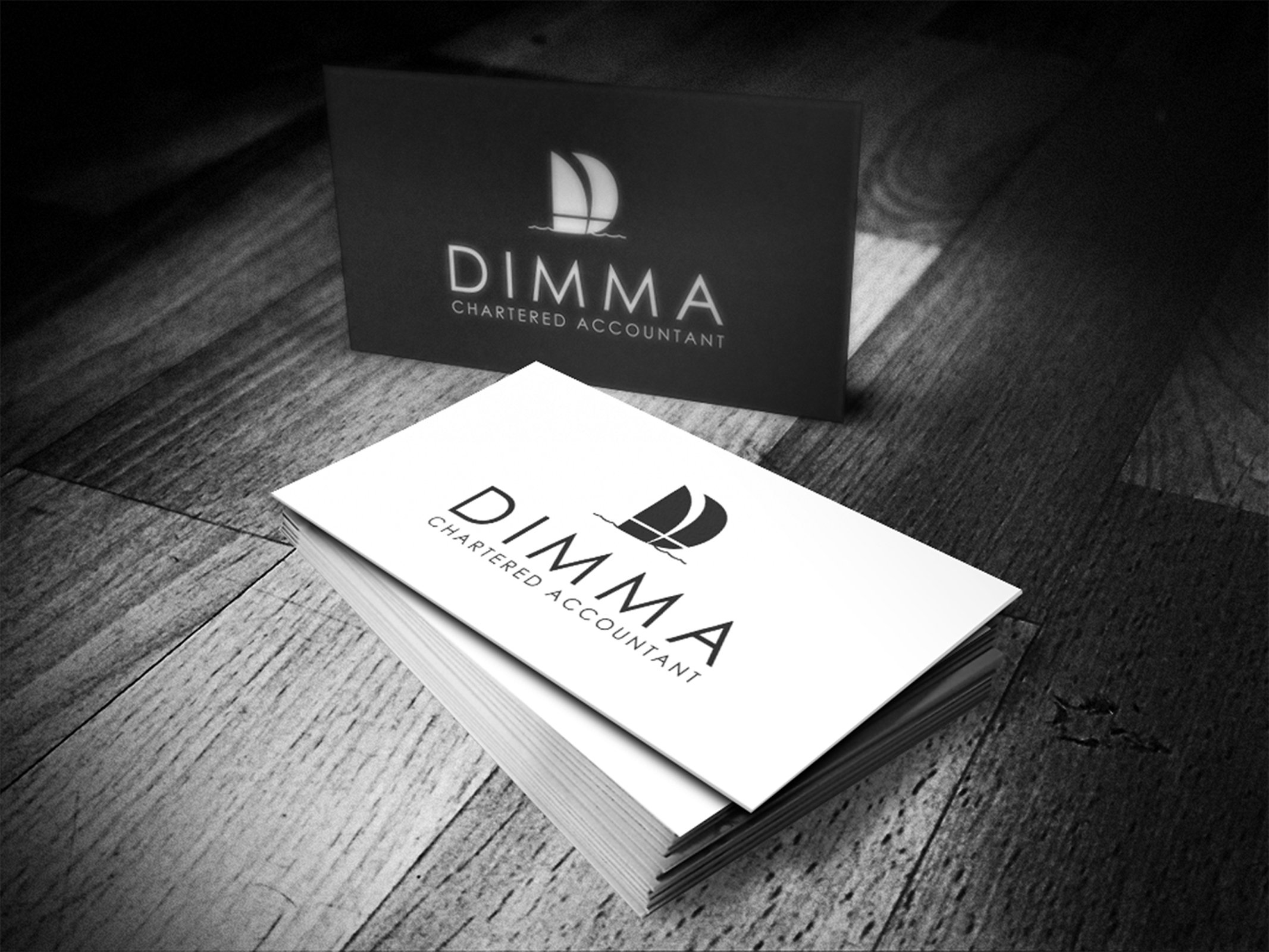 Logo Design by omARTist - Entry No. 66 in the Logo Design Contest Creative Logo Design for Dimma Chartered Accountant.