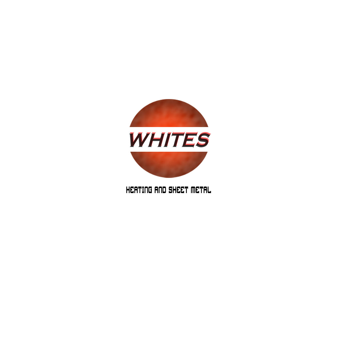 Logo Design by Moag - Entry No. 121 in the Logo Design Contest Imaginative Logo Design for White's Heating and Sheet Metal.