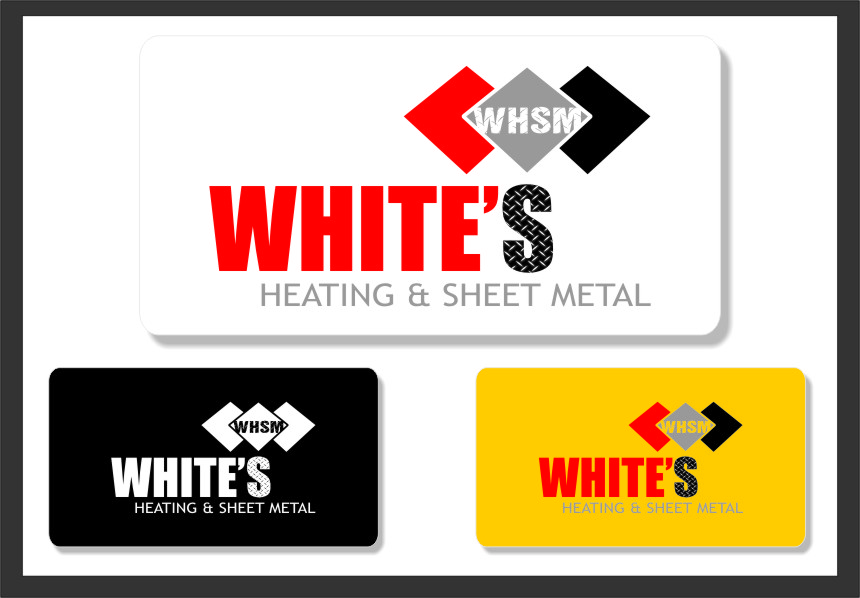 Logo Design by RasYa Muhammad Athaya - Entry No. 125 in the Logo Design Contest Imaginative Logo Design for White's Heating and Sheet Metal.