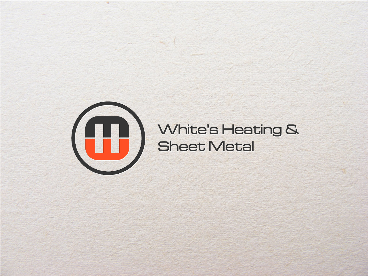 Logo Design by jpbituin - Entry No. 126 in the Logo Design Contest Imaginative Logo Design for White's Heating and Sheet Metal.
