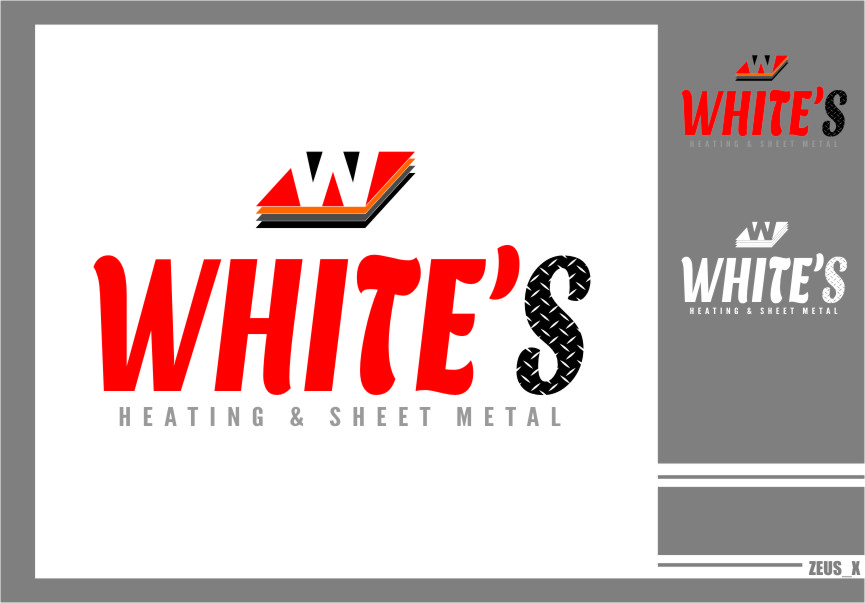 Logo Design by RasYa Muhammad Athaya - Entry No. 129 in the Logo Design Contest Imaginative Logo Design for White's Heating and Sheet Metal.