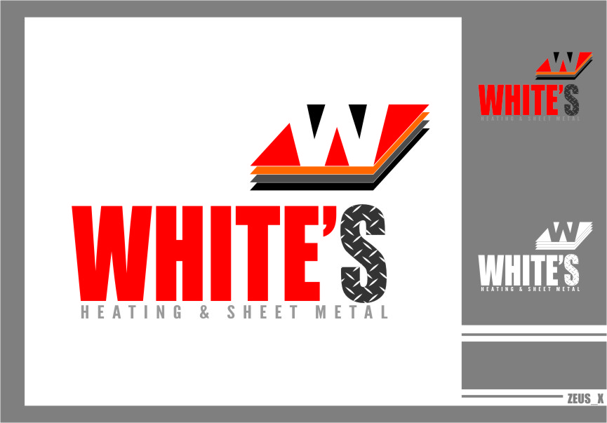 Logo Design by RasYa Muhammad Athaya - Entry No. 130 in the Logo Design Contest Imaginative Logo Design for White's Heating and Sheet Metal.